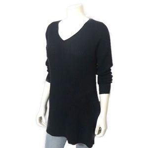 H by Halston   Black V-Neck Oversized Long Sweater